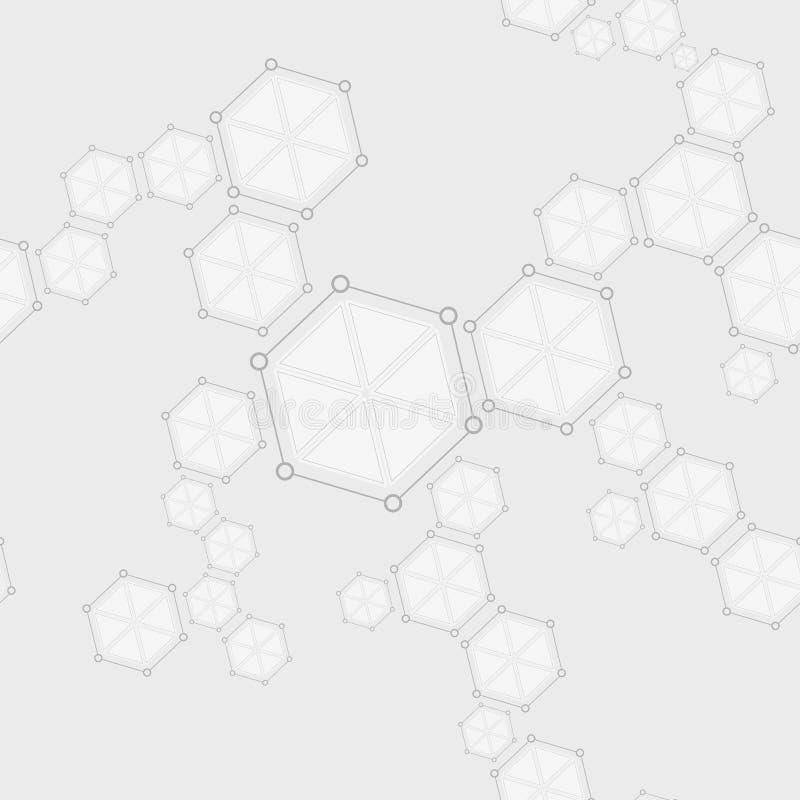 Молекулярный безшовный чертеж конспекта структуры иллюстрация штока