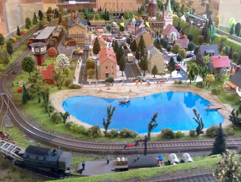 модельная железная дорога стоковое фото