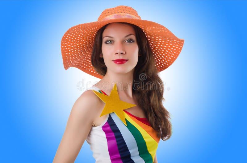 Модельная нося модная одежда стоковые изображения