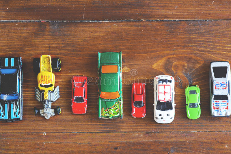 Модельные автомобили стоковое изображение