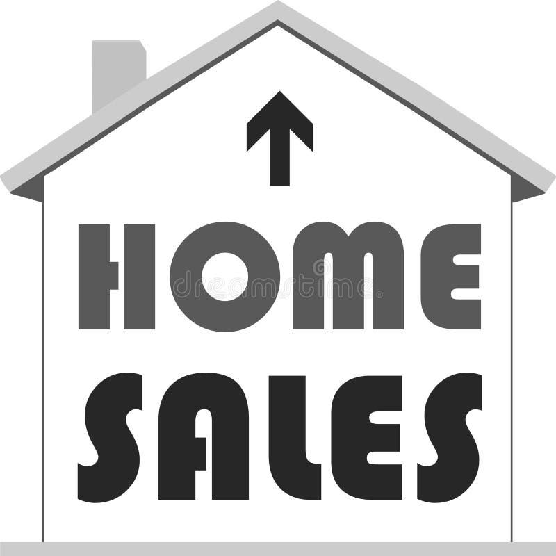 Модельный значок дома с текстом внутренних продаж иллюстрация вектора