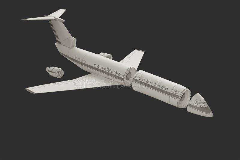 Модельный самолет. стоковые изображения rf