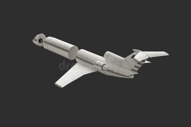 Модельный самолет стоковая фотография rf