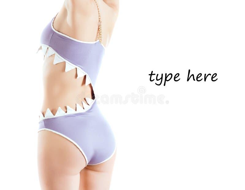 модельный swimsuit стоковое фото rf