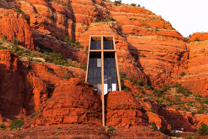 Молельня святейшего креста в Sedona, Аризона стоковые изображения