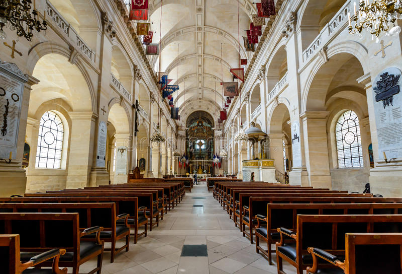 Молельня des Invalides Сент-Луис, Парижа, Франции стоковые фото