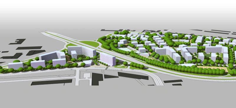 Модель города бесплатная иллюстрация