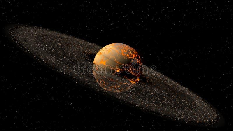 Модель горячей планеты иллюстрация вектора