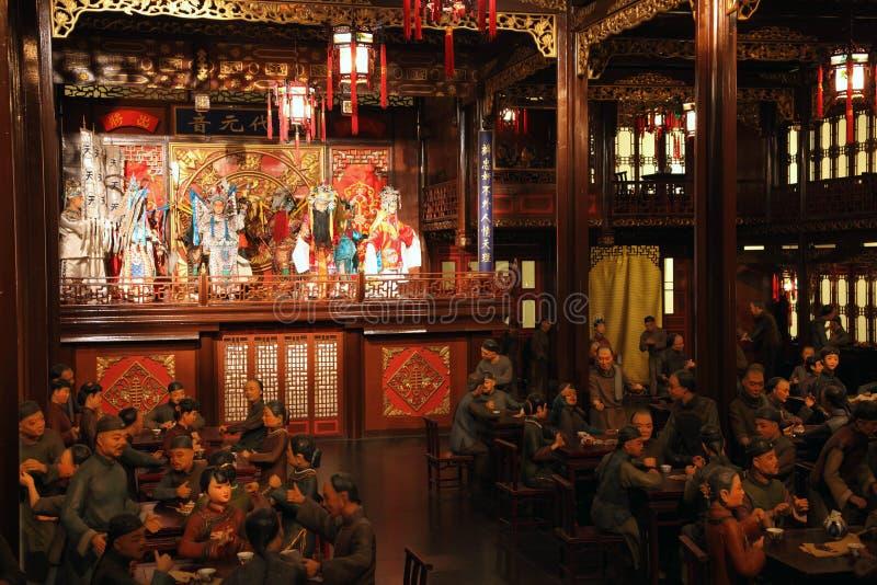Модель китайского чайного домика стоковое фото rf