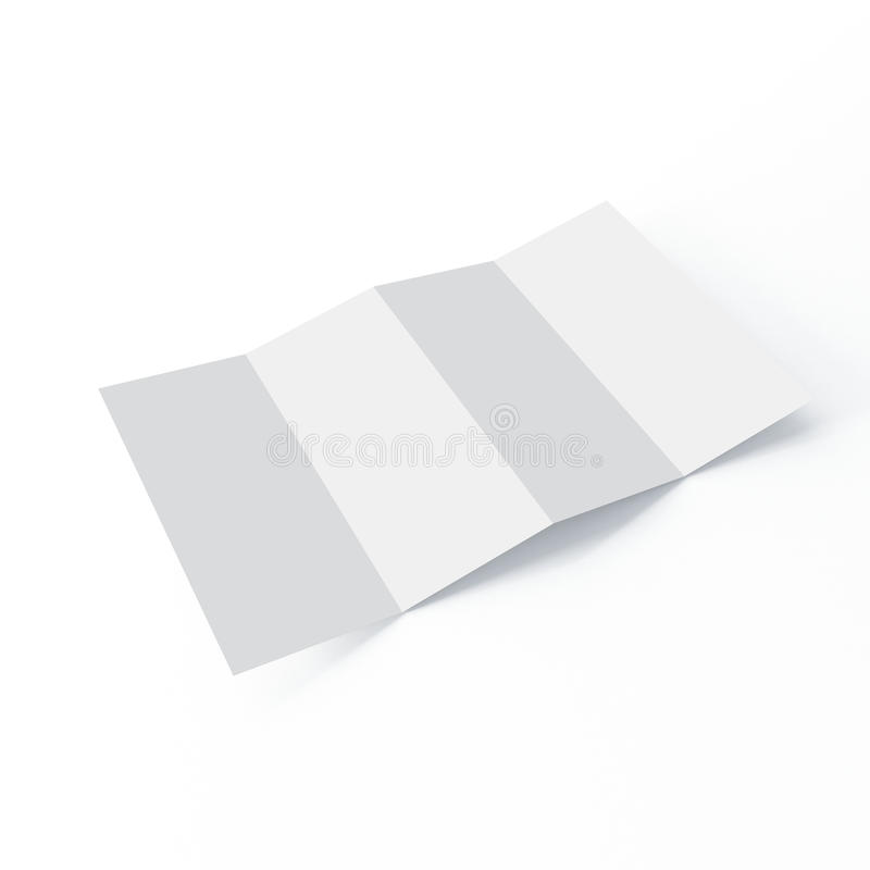 Модель-макет брошюры 4 створок на изолированной белой предпосылке иллюстрация вектора