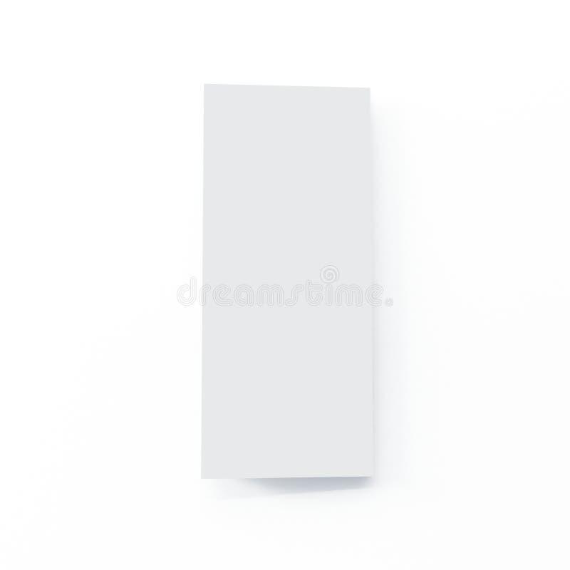 Модель-макет брошюры 4 створок на изолированной белой предпосылке бесплатная иллюстрация