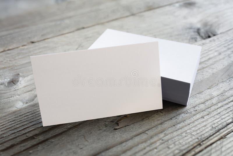 Модель-макет визитных карточек пустой стоковая фотография rf