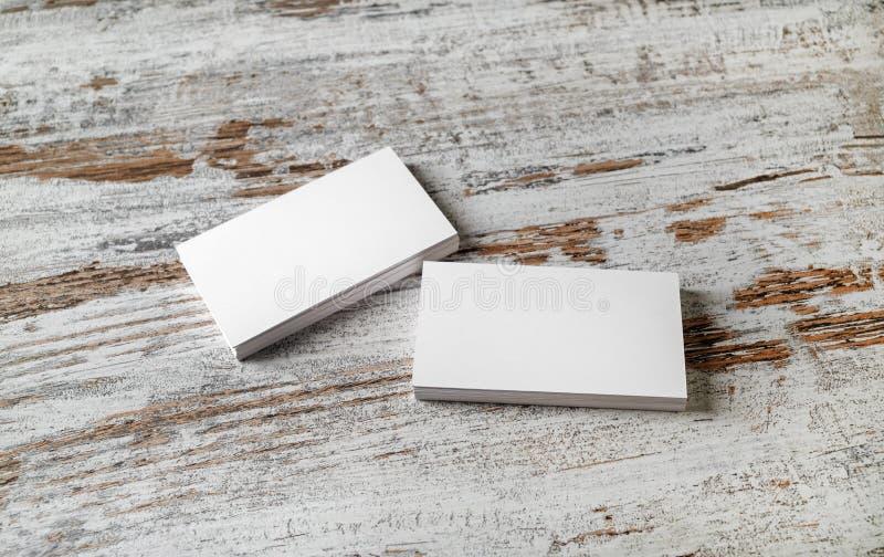 Модель-макет визитных карточек стоковое изображение rf