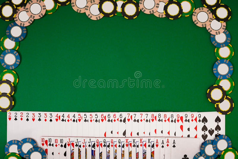 Модель-макет плана шаблона знамени для онлайн казино Зеленая таблица, взгляд сверху на рабочем месте иллюстрация вектора