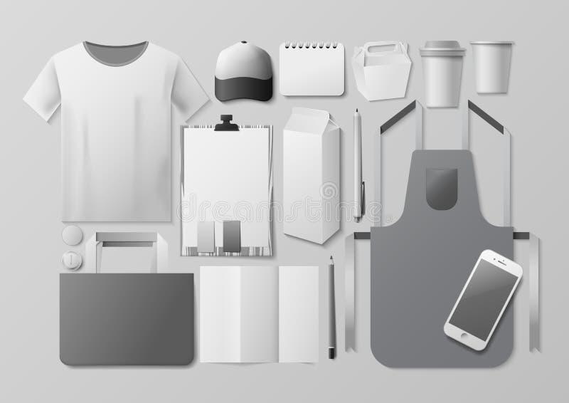 Модель-макет фирменного стиля бесплатная иллюстрация