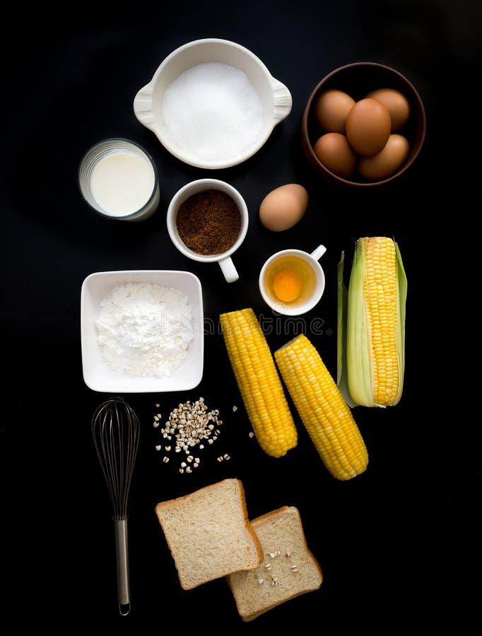 Модель-макет хлебопекарни взгляд сверху стоковые изображения rf