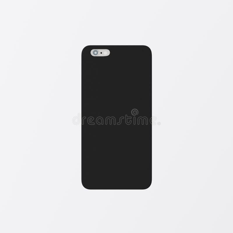 Модель-макет Smartphone случая телефона крышки пустого черного чистого шаблона крупного плана одного пластичный Родовая назад изо стоковые фото