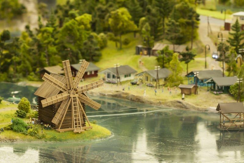 Модель маленького города стоковые фотографии rf