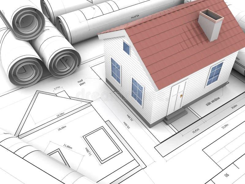 Модель дома бесплатная иллюстрация