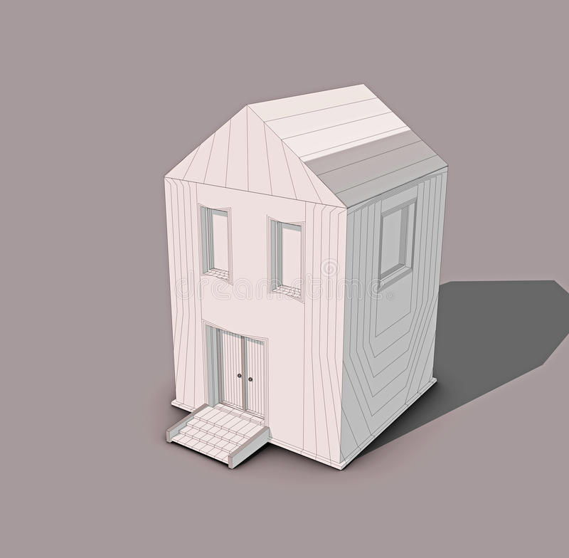 модель дома 3d стоковые фотографии rf