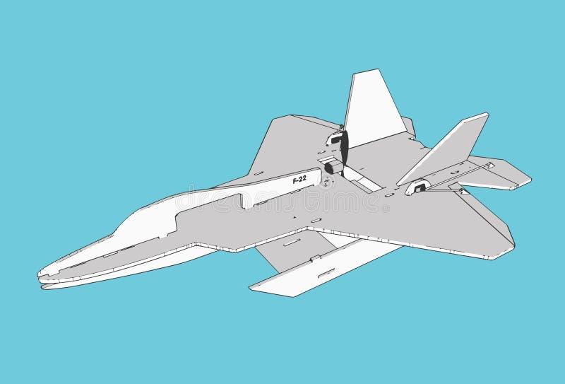 Модель самолета F22 стоковые изображения