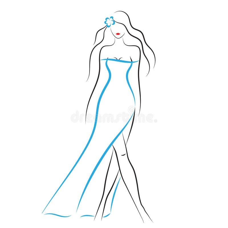 модель способа платья золотистая бесплатная иллюстрация