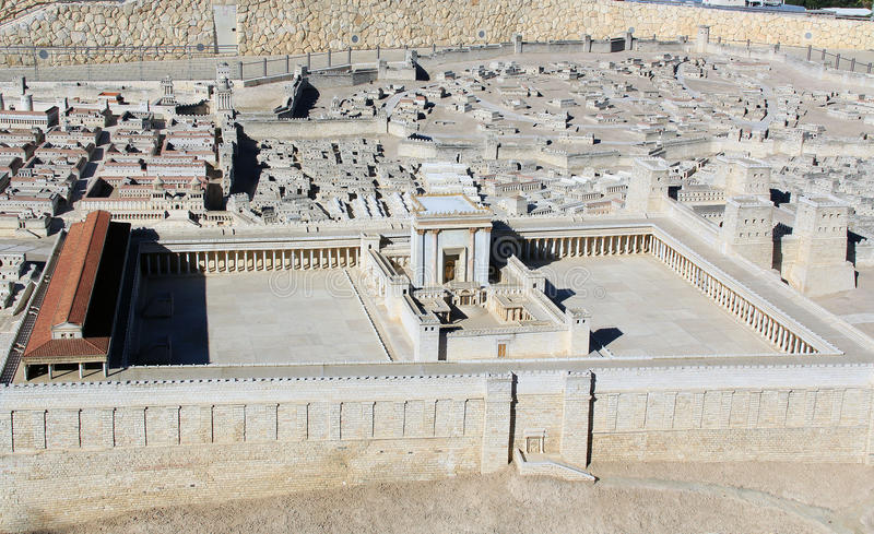 Модель старого Иерусалима Temple Mount стоковое изображение rf