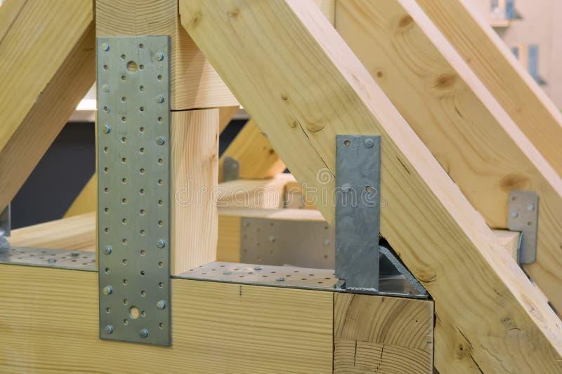 Модель ферменной конструкции крыши стоковое фото