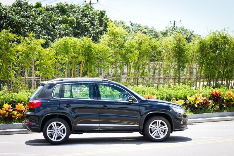 Модель Фольксвагена Tiguan SUV 2013 стоковая фотография