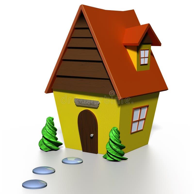 модель 3D милого дома страны бесплатная иллюстрация