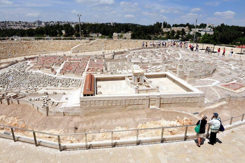 Модель Holyland Иерусалима стоковая фотография