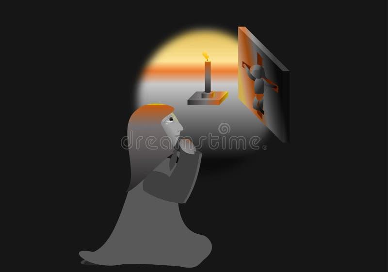 Молитва бесплатная иллюстрация