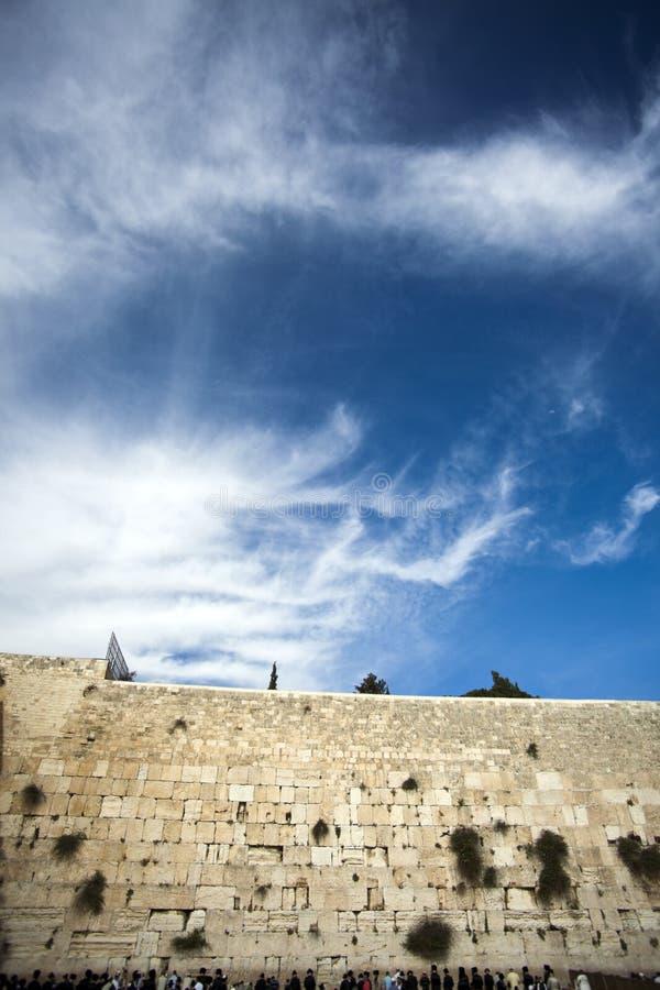 Молитвы на голося стене стоковое изображение rf