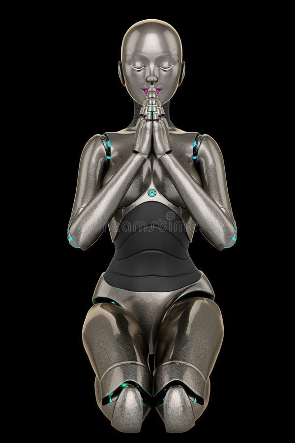 Молить девушки робота бесплатная иллюстрация