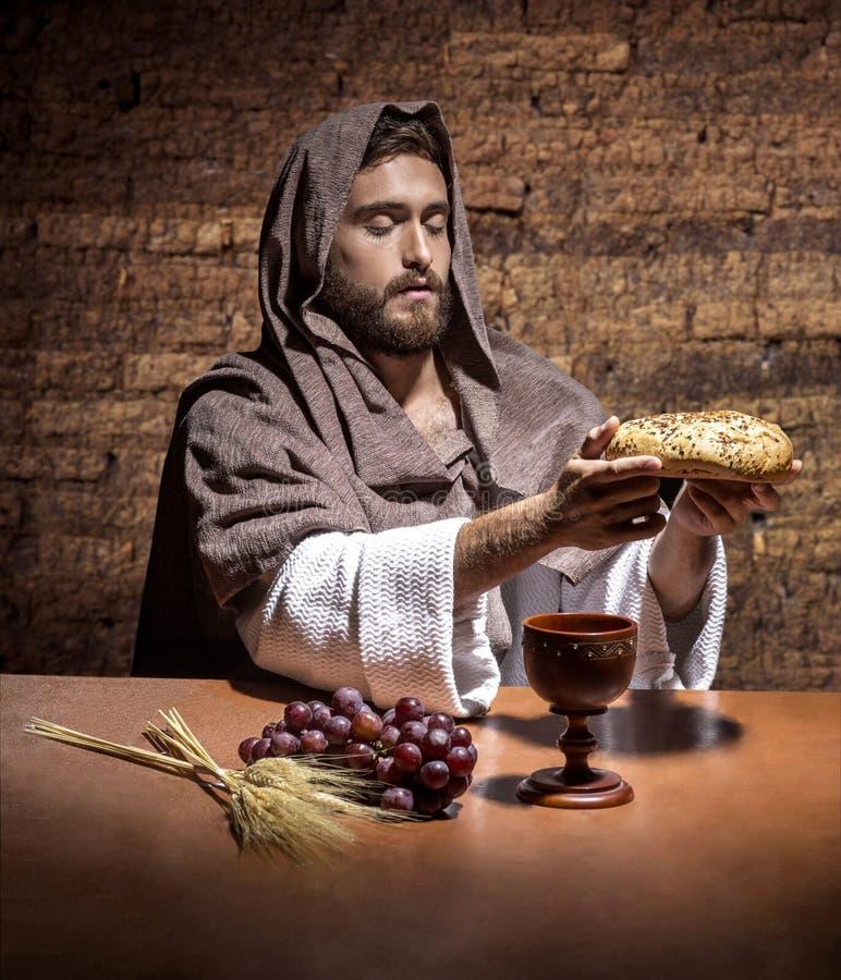 Молить Jesuschrist стоковое фото