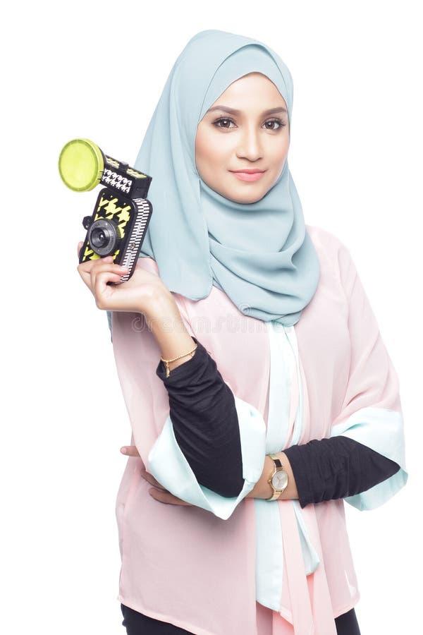 Модная женщина muslimah стоковые фото