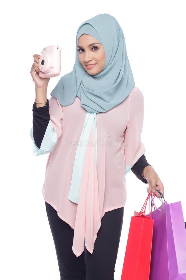 Модная женщина muslimah стоковая фотография rf
