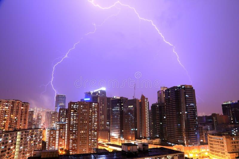 Молния в Гонконге стоковые изображения