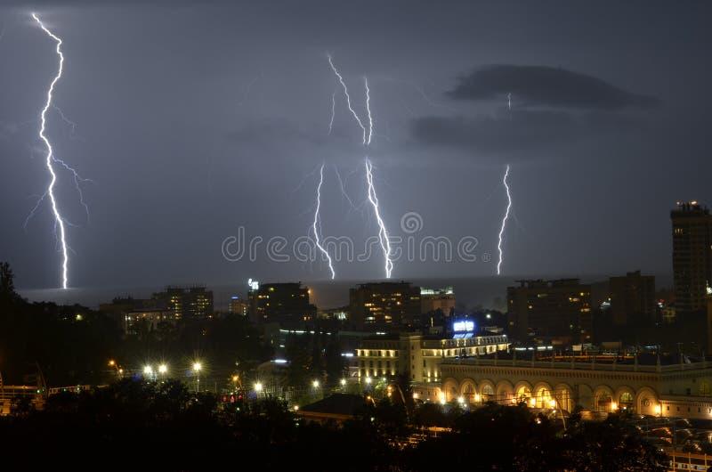 Молния в Сочи стоковая фотография rf