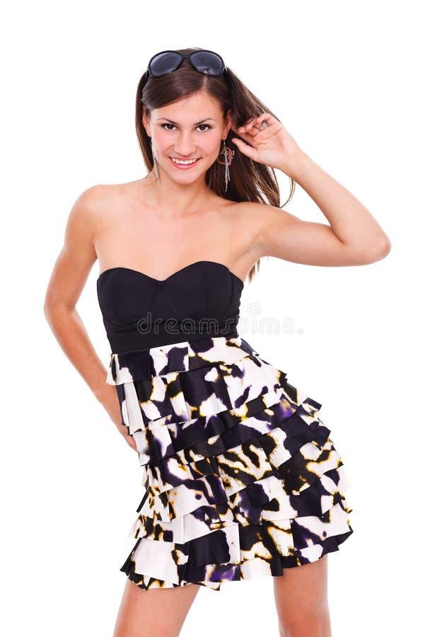 Модный представлять молодой женщины стоковое фото rf