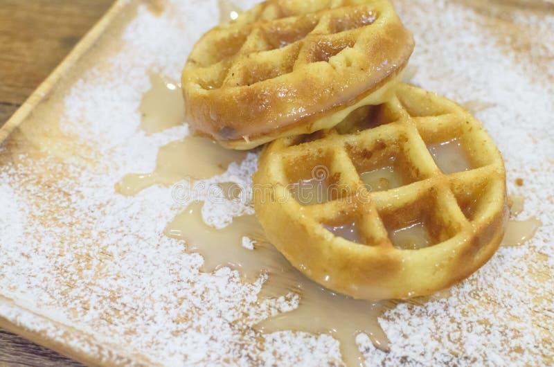 Молоко Creme Waffle стоковое изображение rf