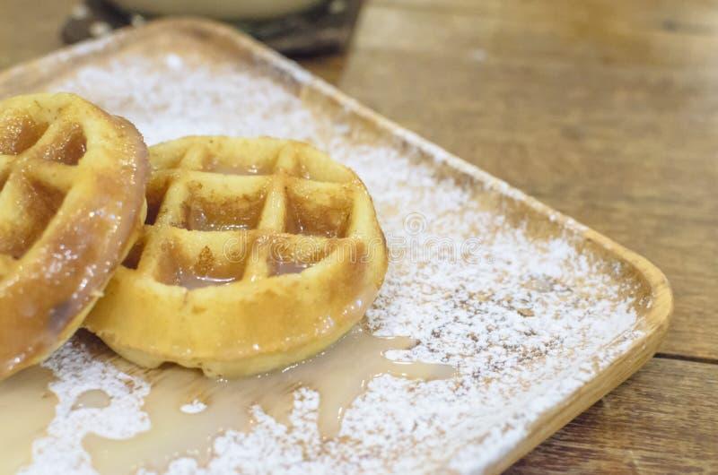 Молоко Creme Waffle стоковое изображение