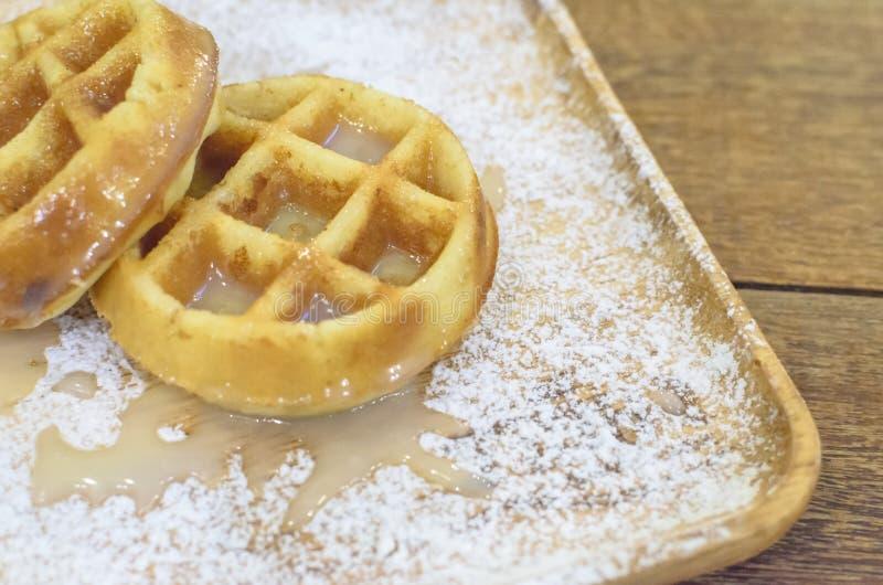 Молоко Creme Waffle стоковое фото