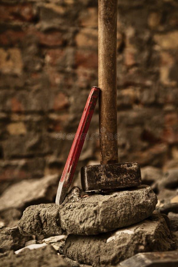 Молоток и зубило стоковое фото rf