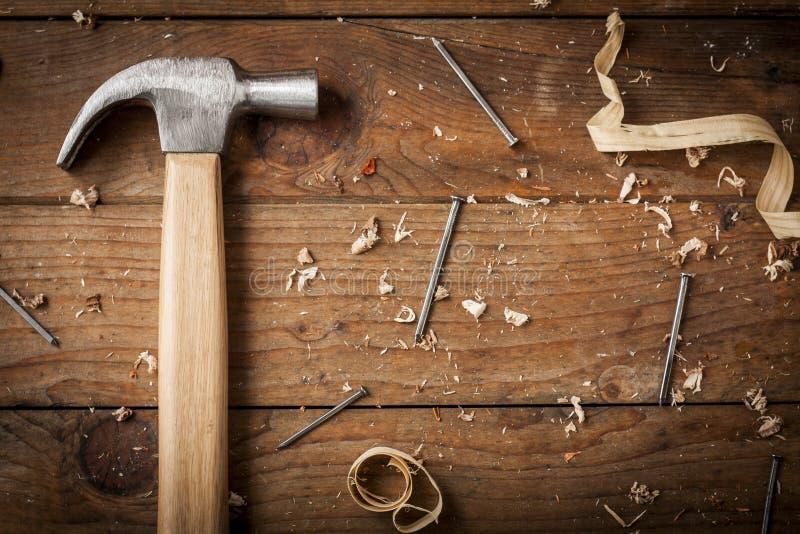 Молоток плотника стоковые фотографии rf