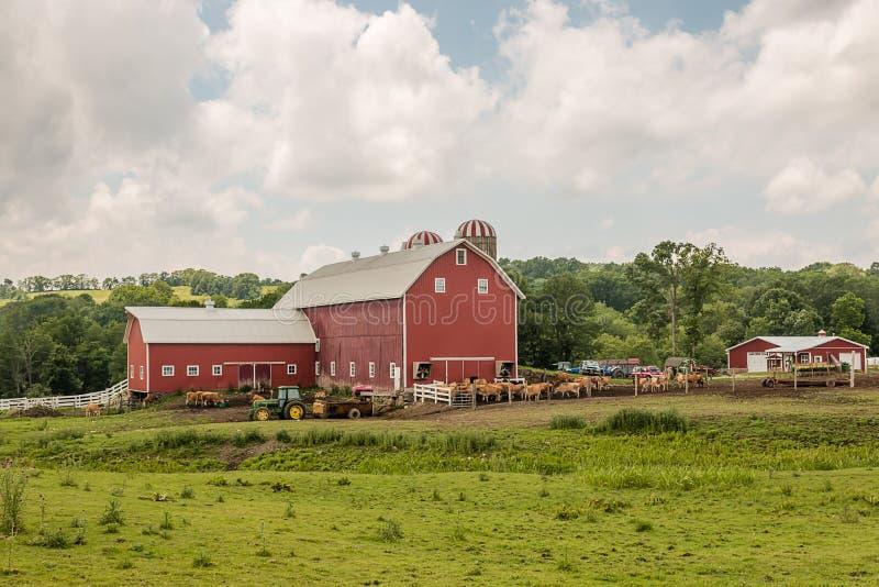 Молочная ферма консервации обрабатываемой земли стоковое фото rf