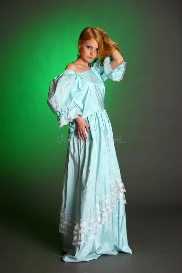 Молодая викторианская повелительница стоковая фотография rf