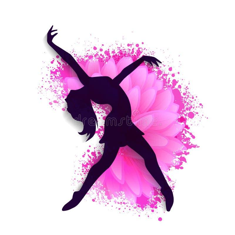 Молодая девушка танцев на день женщин бесплатная иллюстрация