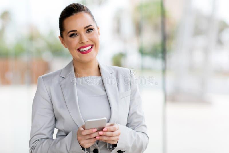 Молодая деловая женщина стоковое изображение rf