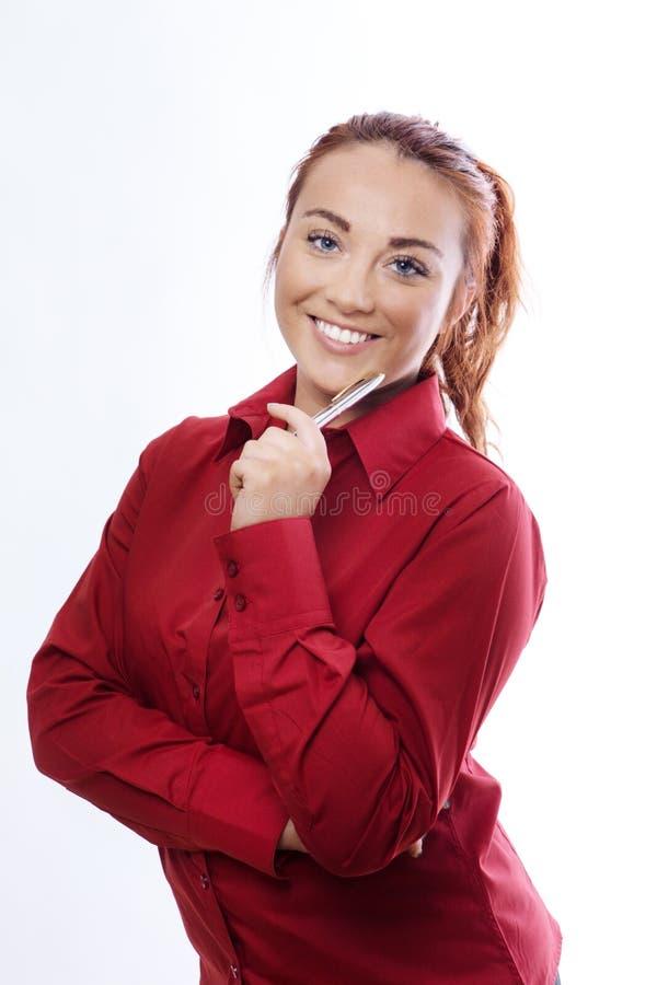 Молодая женщина дела стоковая фотография rf